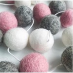 Winston+Grace felt ball garland - marble blush