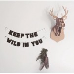 Captain+Co 'Keep the Wild in You' felt banner