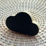 Cloud wall*knob - black