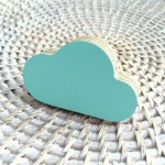 Cloud wall*knob - minty