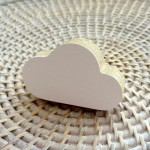 Cloud wall*knob - white