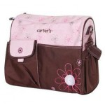 Carter's pink and brown large nappy bag