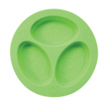 Oogaa silicone divided plate - green