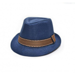 Blue fedora hat