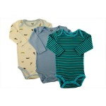 Long sleeve boys bodysuit - 3PK