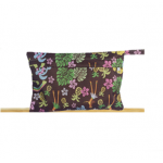 Brown aloha theme waterproof nappy pouch