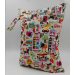 Double zipper carnival print wetbag