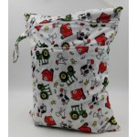 Double zipper farmyard wetbag