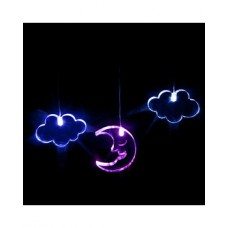 Glow light mobile - Moon & Clouds