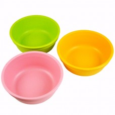 Re-Play Bowls 3 pack - Baby Pink / Green / Sunny Yellow