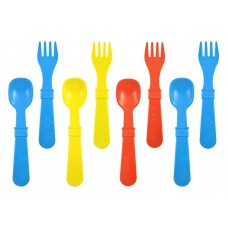 Re-Play Utensils 8 pack - Sky Blue / Red / Yellow