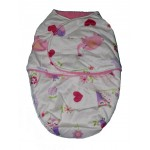Pink owl double layer swaddle blanket