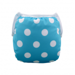 Blue & white spots baby swim nappy