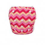 Pink chevron baby swim nappy
