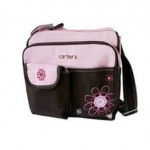 Carter's pink and brown compact nappy bag