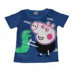 Blue George Pig short sleeve tee