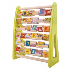 Wooden alphabet abacus