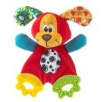 Puppy dog soft toy teether