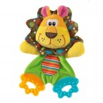 Lion soft toy teether