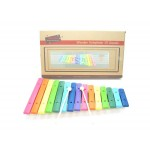 Large wooden colour xylophone