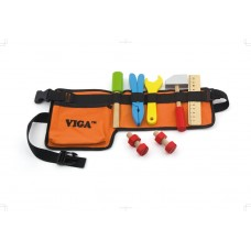 Tool belt with wooden accessories