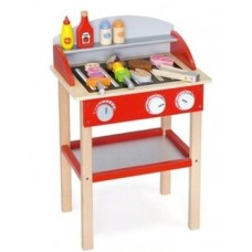 Wooden BBQ with accessories