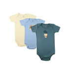 Short sleeve boys bodysuit - 3PK