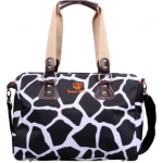 Dream Baby black giraffe print nappy bag