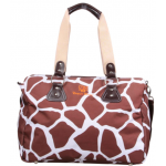 Dream Baby brown giraffe print nappy bag