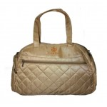 Dream Baby champagne quilted nappy bag