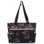 Dream Baby coffee with cream elephant print nappy bag