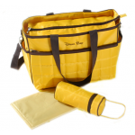 Dream Baby yellow and brown nappy bag