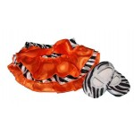 Zebra print satin bloomers with matching soft-sole shoes (SET)