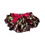 Army print satin bloomers