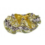 Yellow and grey chevron satin bloomers