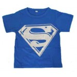 Blue Superman short sleeve tee