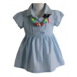 Light blue collared little lady dress
