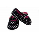 Black and white polka dot soft-sole shoes