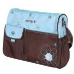 Carter's blue and brown large nappy bag