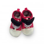 Hot pink and black girls walking shoes