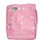 Pink modern cloth nappy with 2 microfibre inserts