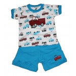 Boys truck print two piece set