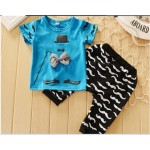 Blue moustache set