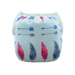 Feather print baby swim nappy