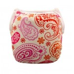 Pink & orange swirl baby swim nappy