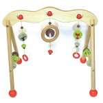 Wooden baby play gym - woodland adventure